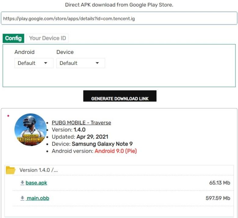 APK Downloader - PUBG Mobile 1.4.0 update