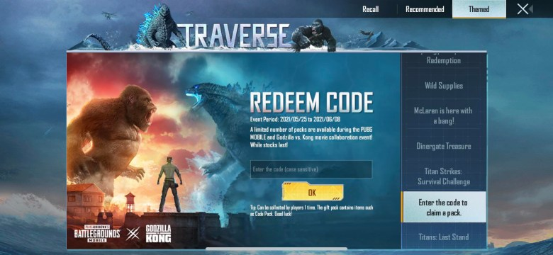 How to PUBG MOBILE REDEEM CODES