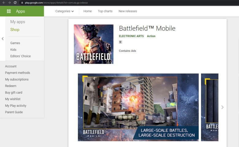 Battlefield Mobile App Download on Google Play Store