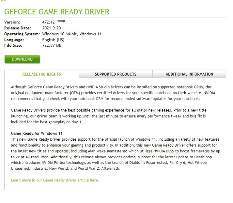 how to download NVIDIA DRIVERS GeForce Game Ready Driver