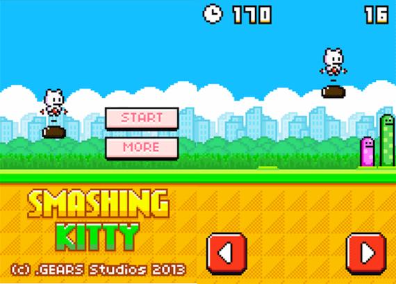 smashing kitty cuatro videojuegos mas del fundador de Flappy Bird que triunfan en la red