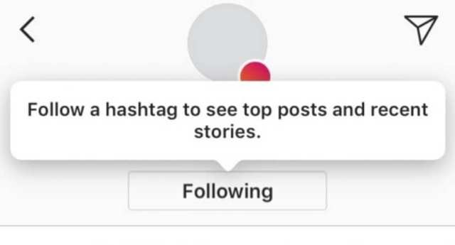 Seguir hashtag en Instagram