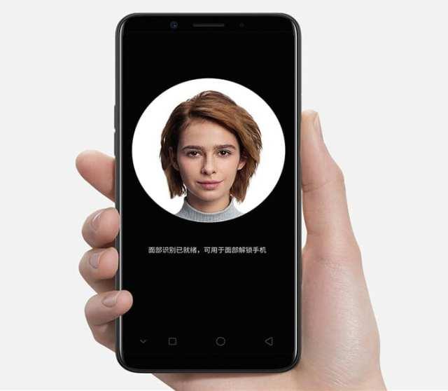 El OPPO A83 con reconocimiento facial
