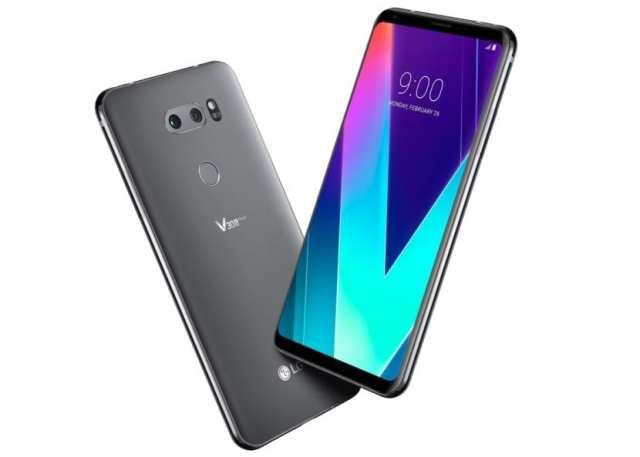 LG V30S ThinQ expuesto en el MWC