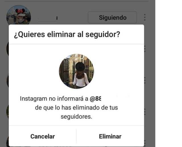 Eliminar seguidores Instagram
