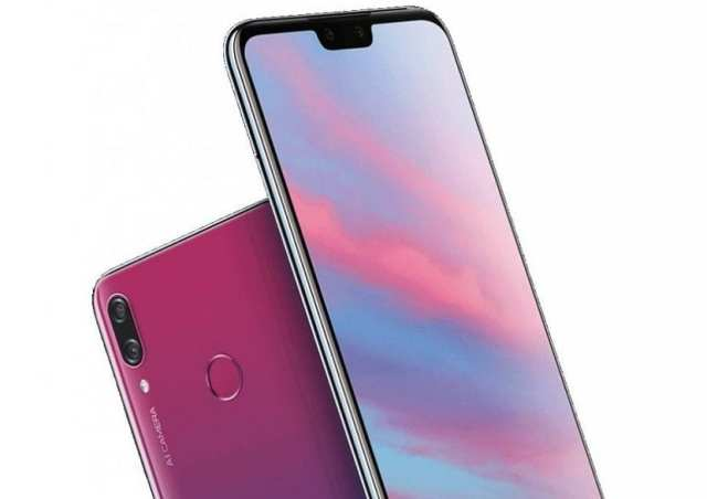 Huawei Y9 2019 diseño