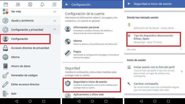 Sesion Facebook℗ Messenger