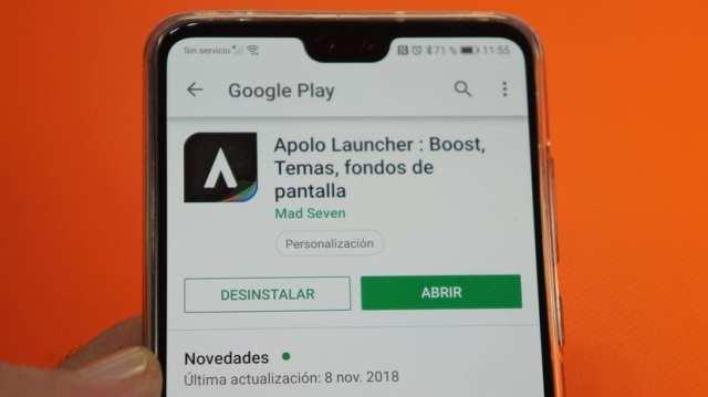 Simplemente Apolo Launcher. Gratuito, sin anuncios y sensacional para cualquier Android