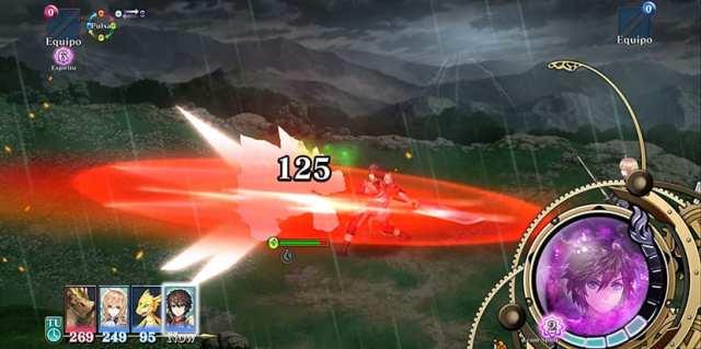 Ataque de guerrero en Evertale