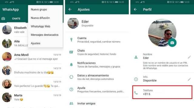 WhatsApp numero de telefono