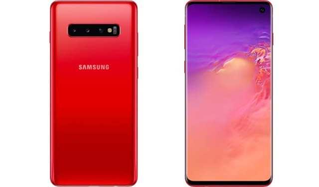 Galaxy S10 rojo bermellón