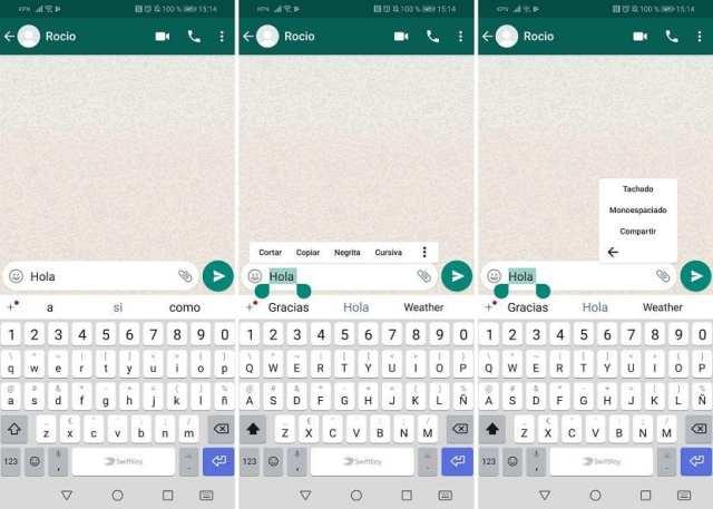 Personalizar mensajes WhatsApp