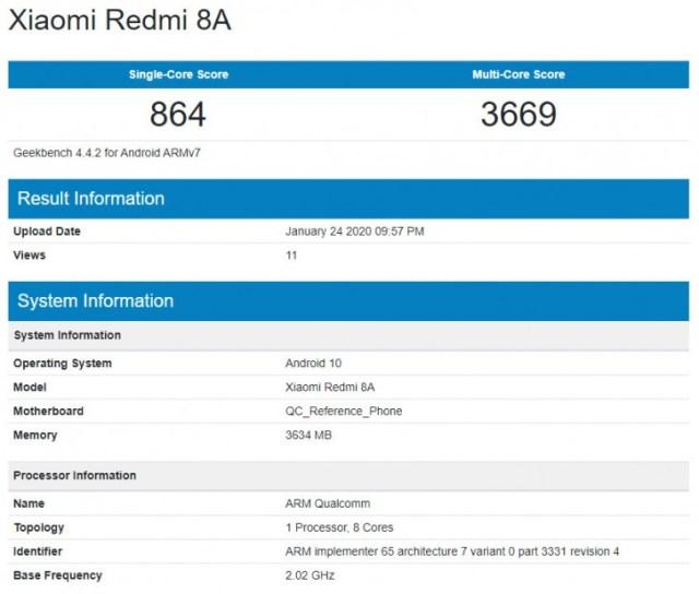 Redmi 8A con <stro data-recalc-dims=