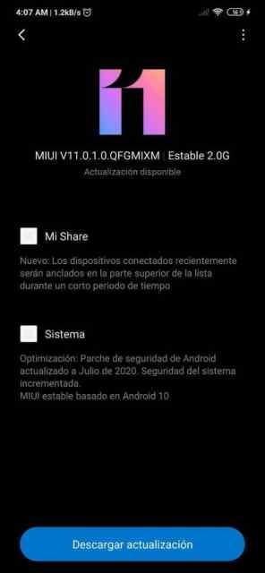 Actualización OTA estable general de <stro data-recalc-dims=