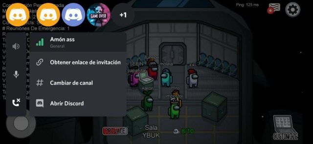 Overlay de Discord en Among Us, uno de los games del momento