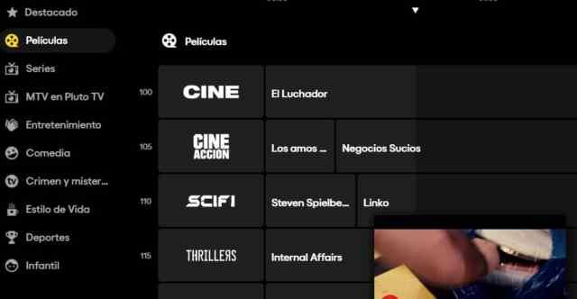 Canales Pluto TV