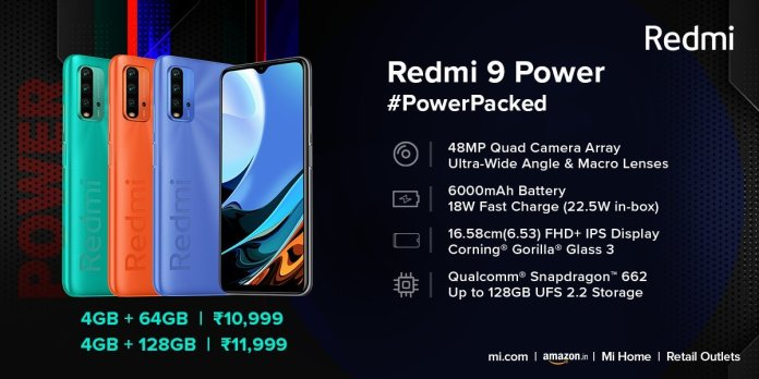 Redmi 9 Power is announced with a 6,000 mAh battery and MIUI 12