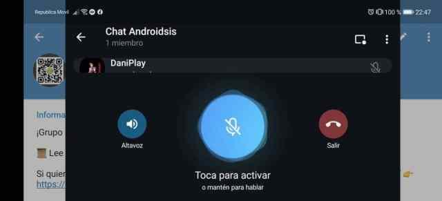 Telegram chat Androidsis