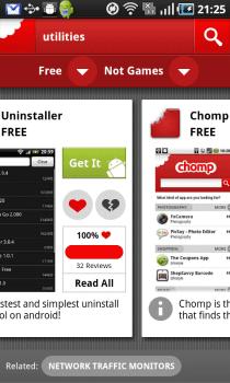 Chomp 6 Chomp, ya para Android. Un motor de búsqueda de Apps.