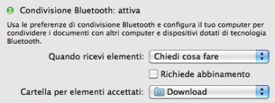 Inviare file via bluetooth a Mac OS