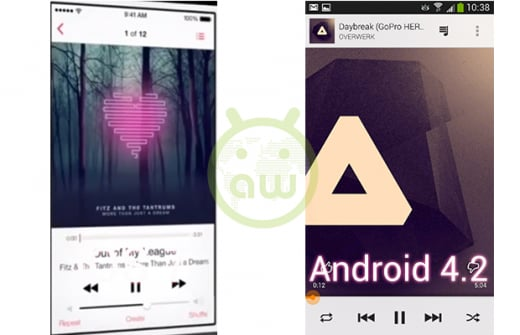 iOS 7 vs Android 4.2: Musica
