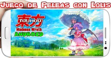 Touhou Madness Wrath Openbor para Android Peleas de Anime