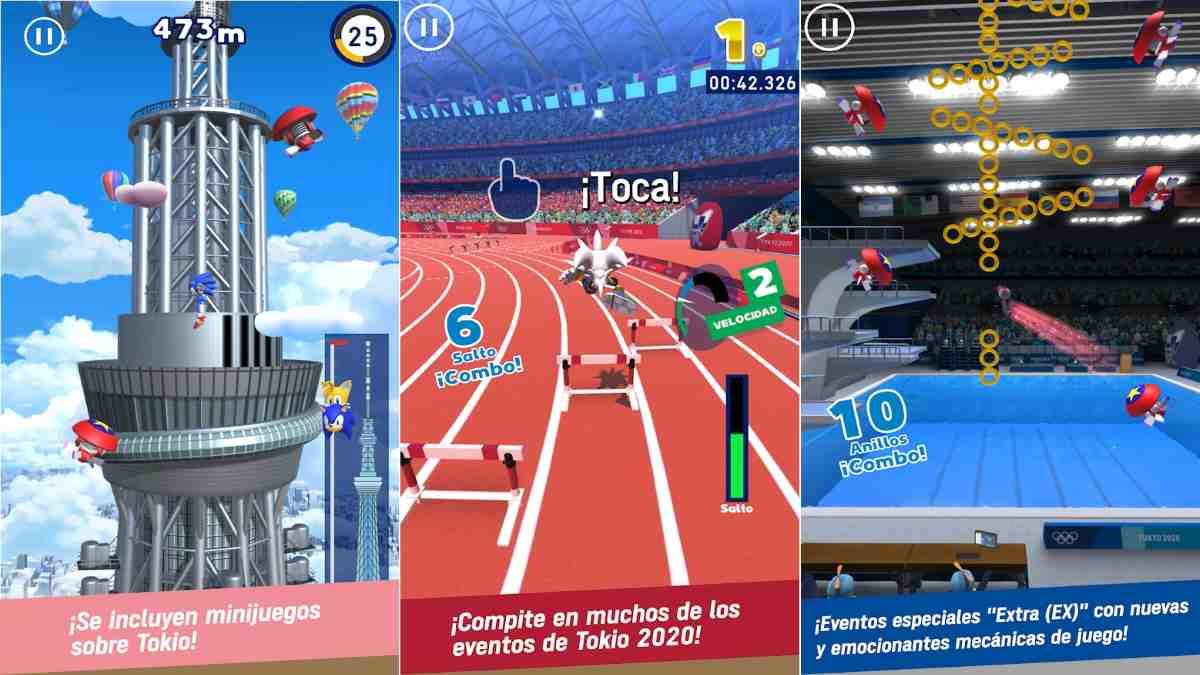 Sonic en los juegos Olímpicos Tokio 2020 Android