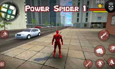 Power Spider 1 APK para Android Genial juego similar al hombre araña