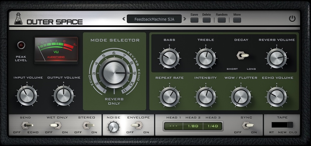 Review of Outer Space tape delay VST effect by Audio Thing