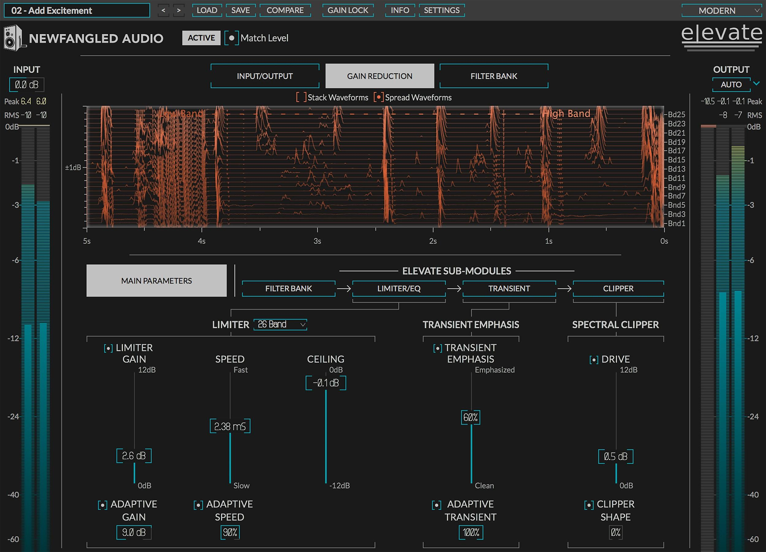 Review of Elevate mastering limiter / maximiser plugin by Newfangled Audio / Eventide