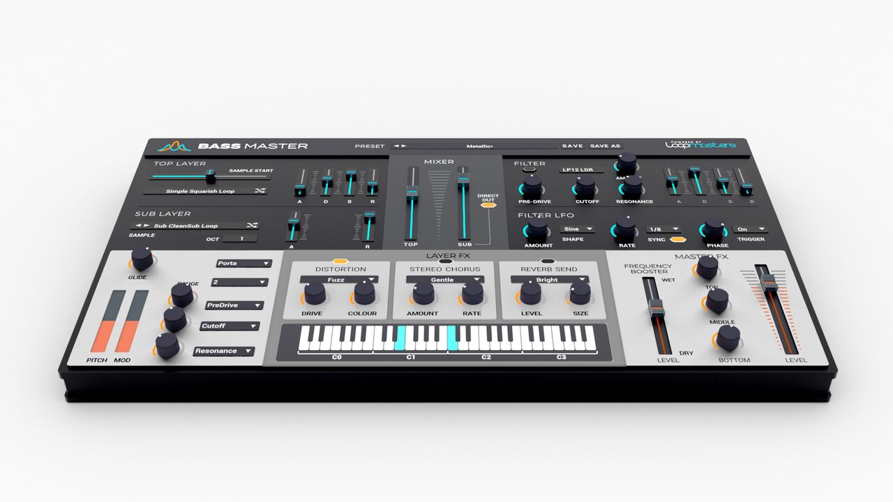 Review of Bass Master – a 64 bit VST/AU synth dedicated to bass from Loopmasters