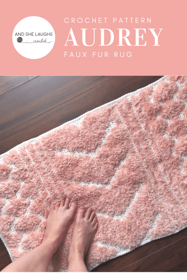 Audrey Faux Fur Rug - and she laughs crochet