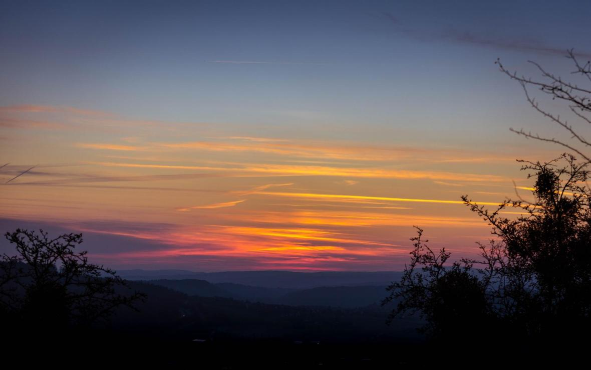 Sonnenuntergang auf dem Hohentwiel