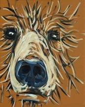 Harvey Bear, size 16x20 in., original available $895, canvas giclée print available in size R2