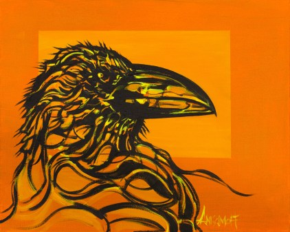 Raven, size 20x16 in., original $665, canvas giclée print available in size R2