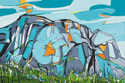 Chief, size 24x36 in., canvas giclée print available in original size as limited edition print