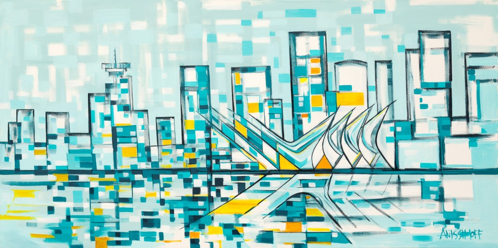 Shipyards, size 30x60 in., original available $1800, canvas giclée print available in size L1,L2,L4