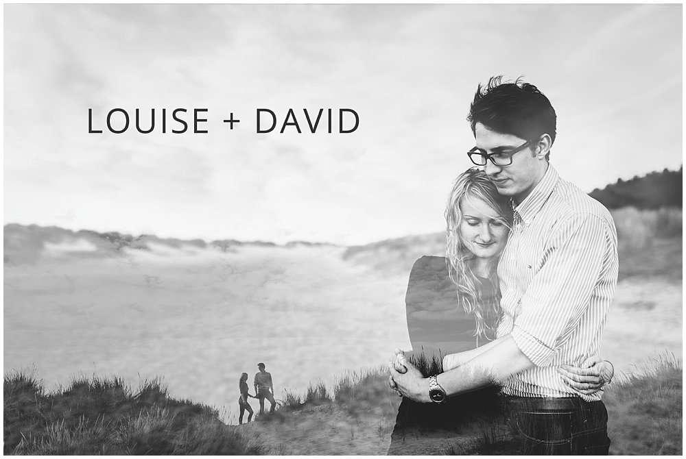 Louise and David Wells Beach Pre-Wedding Shoot - Norwich and Norfolk Wedding