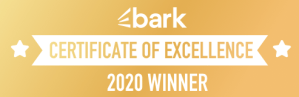 Bark certificate of excellence winner 2020.