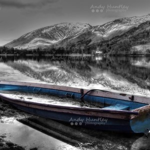 Blue Boat in the Lake District
