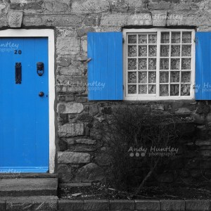 Blue door and window shutters