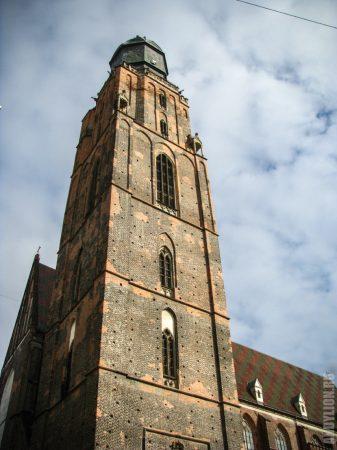 Башня костела святой Эльжбеты (Елизаветы)