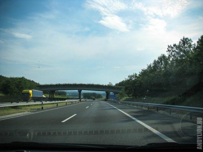 Трасса М7. Едем по Венгрии в сторону Словении.