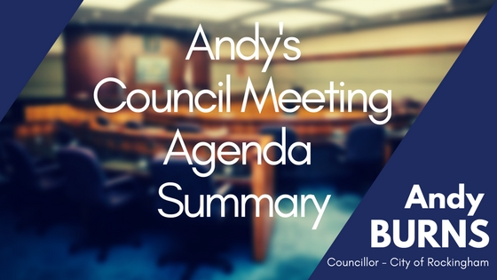 Andy's Council Meeting Agenda Summary – April 2018
