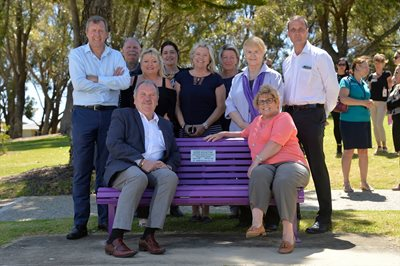 Rockingham Joins The Purple Bench Project