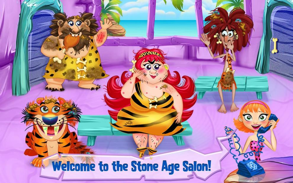 Download and Play Cave Girl - Stone Age Salon on PC