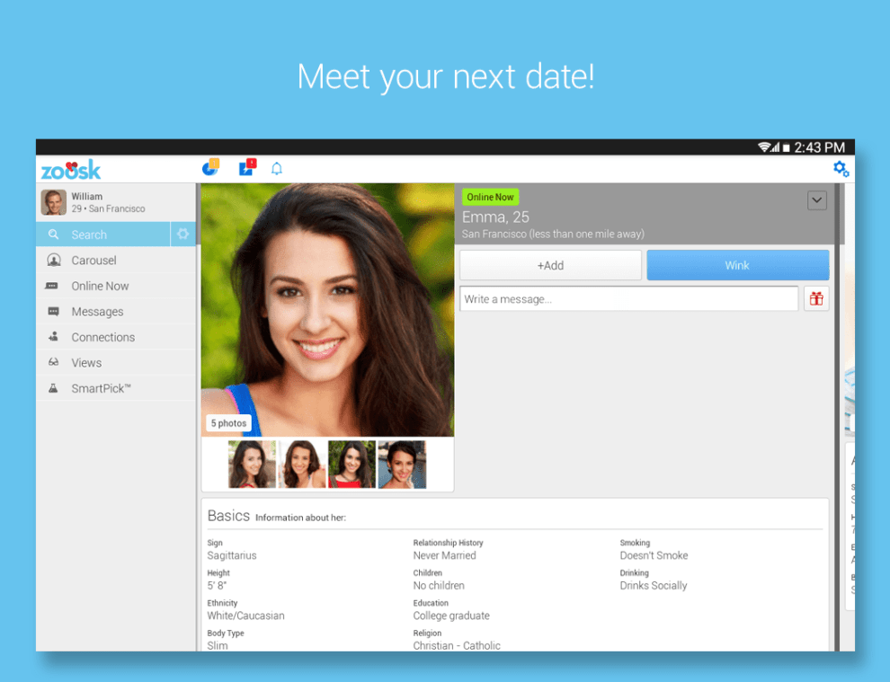 Download Zoosk Android App for PC/ Zoosk on PC