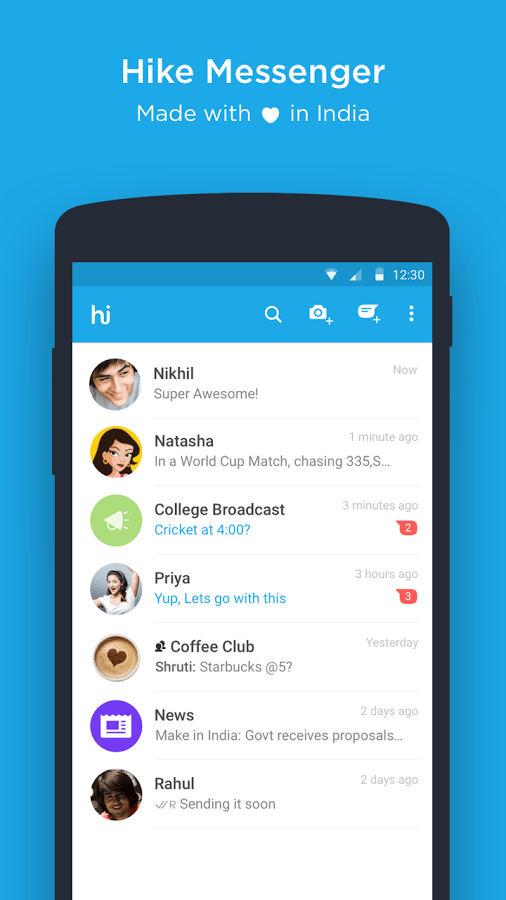 Download Hike Messenger APK Android