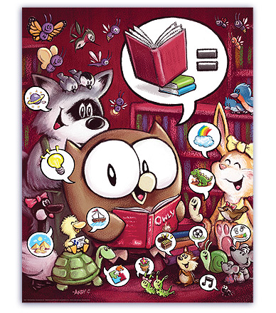 Owly reads!