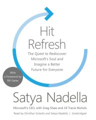 Hit Refresh by Satya Nadella book cover